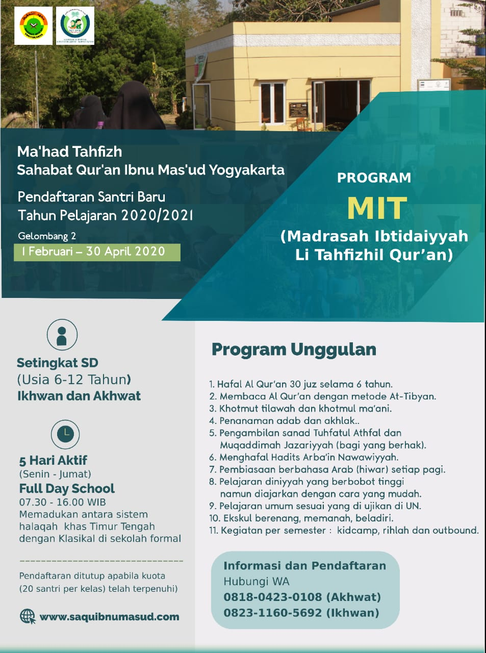 Brosur dan Flyer PPDB 21/22 - Sahabat Quran Ibnu Mas'ud